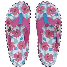 GUMBIES Islander Canvas Thongs mixed hibiscus
